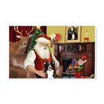 Santa's Border Collie 22x14 Wall Peel