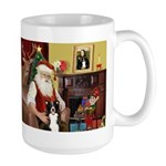 Santa's Border Collie Large Mug