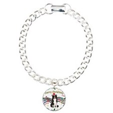 XmasMusic1MC/Border Collie Charm Bracelet, One Cha