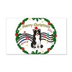 XmasMusic1MC/Border Collie 22x14 Wall Peel