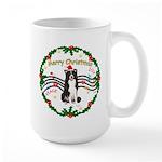 XmasMusic1MC/Border Collie Large Mug