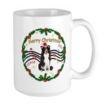 XmasMusic1MC/Border Collie Large Mug