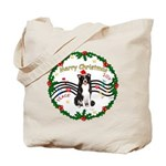 XmasMusic1MC/Border Collie Tote Bag