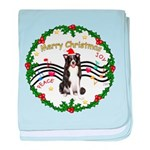 XmasMusic1MC/Border Collie baby blanket