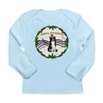 XmasMusic1MC/Border Collie Long Sleeve Infant T-Sh