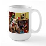 Santa's Border Terrier Large Mug