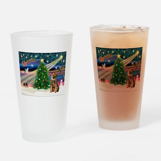 Xmas Magic & Border T Drinking Glass