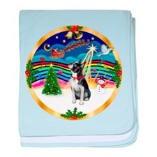 XmasMusic 3/Boston Terrier baby blanket