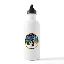 XmasMusic 3/Boston Terrier Water Bottle
