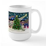 Xmas Magic / Brittany Spaniel Large Mug