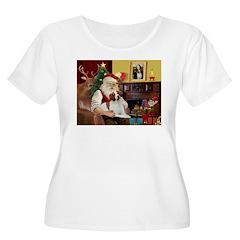 Santa & His Brittany T-Shirt