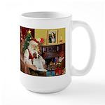 Santa & His Brittany Large Mug