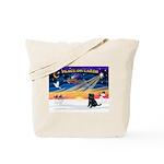 XmasSunrise/Brussels (blk) Tote Bag