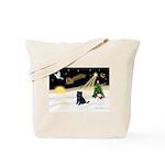 Night Flight/ Brussels Tote Bag