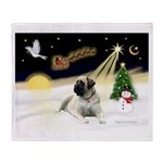 Night Flight/Mastiff 4 Throw Blanket