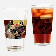 Santa's Bullmastiff #7 Drinking Glass