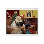 Santa's Bullmastiff #7 Throw Blanket