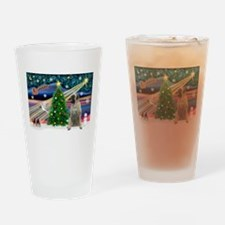 Xmas Magic & Bull Mastiff Drinking Glass