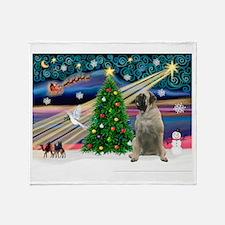 Xmas Magic & Bull Mastiff Throw Blanket