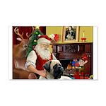 Santa's Bull Mastiff #4 22x14 Wall Peel