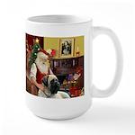Santa's Bull Mastiff #4 Large Mug