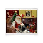Santa's Bull Mastiff #4 Throw Blanket