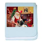 Santa's Bull Mastiff #4 baby blanket