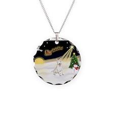 Night Flight/Bull Ter #4 Necklace Circle Charm
