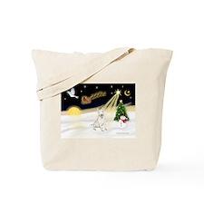Night Flight/Bull Ter #4 Tote Bag