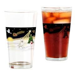 Night Flight/Bull Ter #4 Drinking Glass
