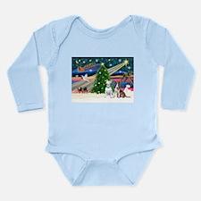 XmasMagic/2 Bullies Long Sleeve Infant Bodysuit