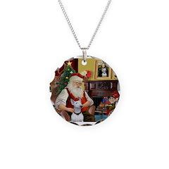 Santa's Bull Terrier Necklace