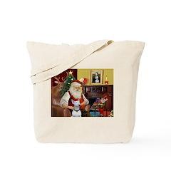 Santa's Bull Terrier Tote Bag