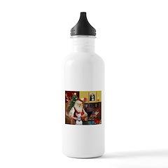 Santa's Bull Terrier Water Bottle
