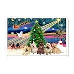 Xmas Magic & 5 Cairn Terriers 22x14 Wall Peel