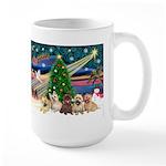 Xmas Magic & 5 Cairn Terriers Large Mug