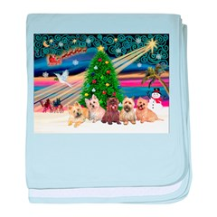Xmas Magic & 5 Cairn Terriers baby blanket