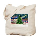 Xmas Magic & Cairn Terrier Tote Bag