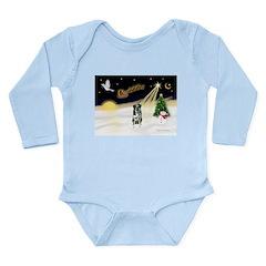 Night Flight/Catahoula Long Sleeve Infant Bodysuit