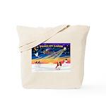 XmasSunrise/Cavalier #2 Tote Bag