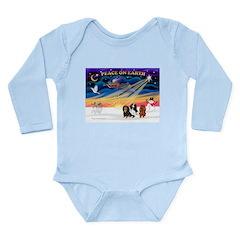 XmasSunrise/3 Cavaliers Long Sleeve Infant Bodysui
