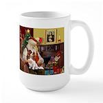 Santa's Cavalier (BL) Large Mug
