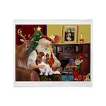 Santa's Cavalier (BL) Throw Blanket