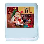 Santa's Cavalier (BL) baby blanket