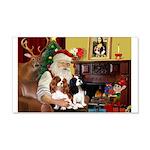 Santa's 2 Cavaliers 22x14 Wall Peel