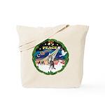 XmasSunrise/Chihuahua Tote Bag