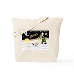 Night Flight/3 Chihuahuas Tote Bag