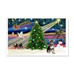 Xmas Magic & Chihuahua 22x14 Wall Peel
