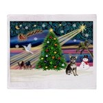 Xmas Magic & Chihuahua Throw Blanket