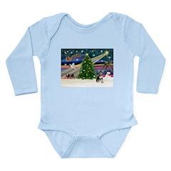 Xmas Magic & Chihuahua Long Sleeve Infant Bodysuit